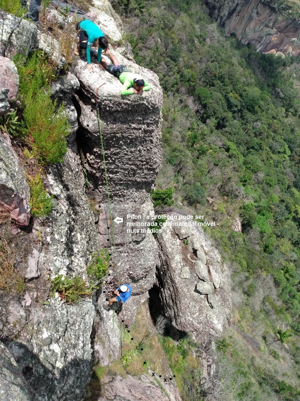 Croqui da Via Tribo Alienigena 3 E2 25m